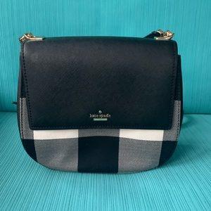 Black and white plaid Kate spade purse